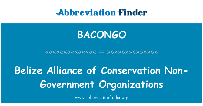 BACONGO: Belize Alliance of Conservation Non-Government Organizations