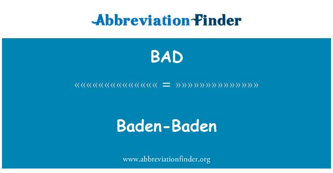 BAD: Baden-Baden