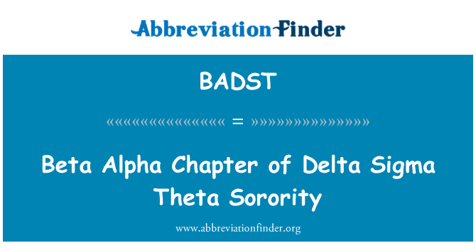 BADST: Capítulo alfa beta Delta Sigma Theta Sorority
