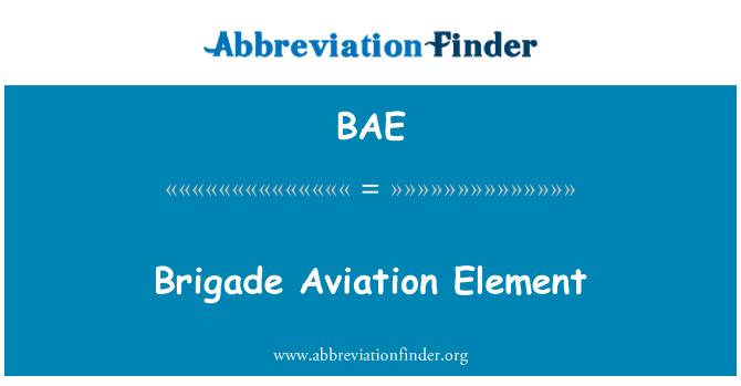 BAE: Brigade Aviation Element
