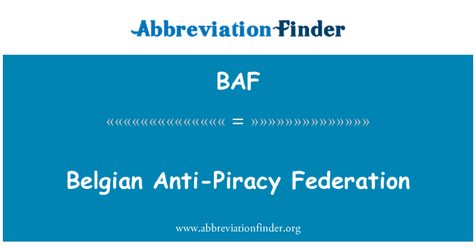 BAF: Belgian Anti-Piracy Federation