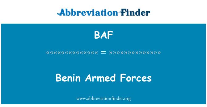 BAF: Benin Armed Forces