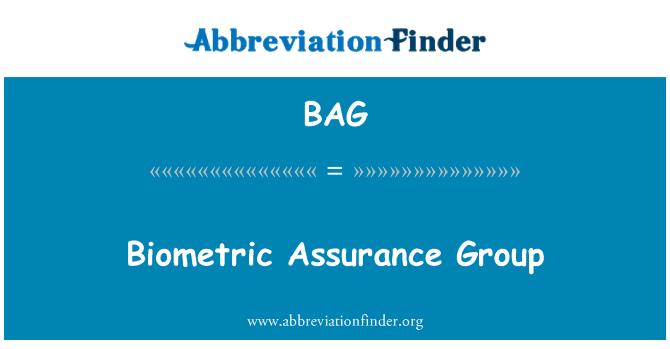 BAG: Biometric Assurance Group