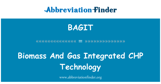 BAGIT: Biomass And Gas Integrated CHP   Technology