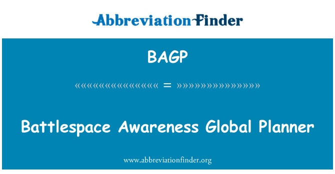 BAGP: Battlespace Awareness Global Planner