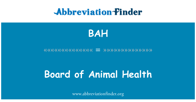 BAH: Board of Animal Health