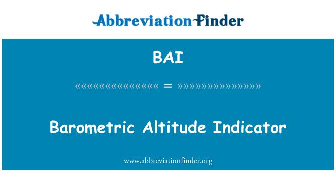 BAI: Barometric Altitude Indicator