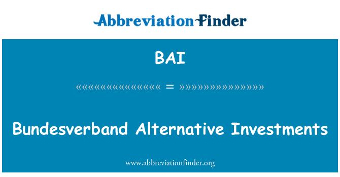 BAI: Bundesverband Alternative Investments