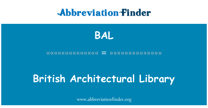 BAL: British Architectural Library
