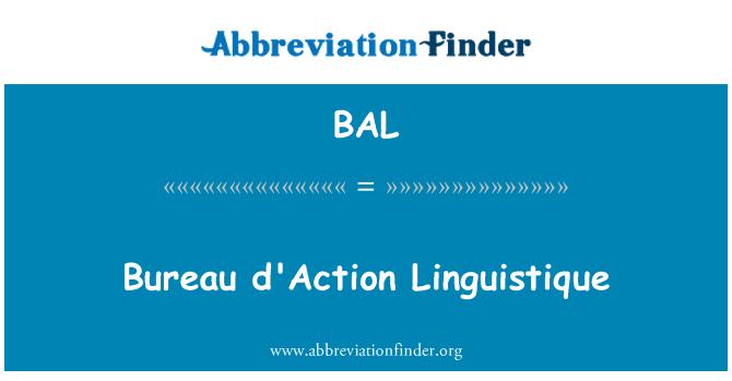 BAL: Bureau d'Action Linguistique