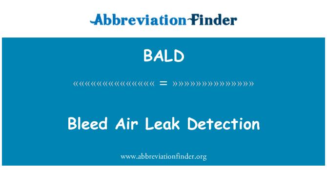 BALD: Bleed Air Leak Detection