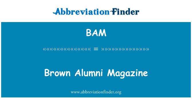 BAM: Brown Alumni Magazine