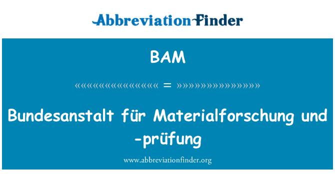BAM: Bundesanstalt für Materialforschung und -prüfung