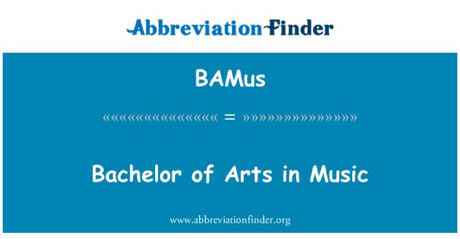 BAMus: Bachelor of Arts in Music