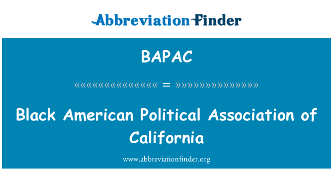 BAPAC: Black American Political Association of California