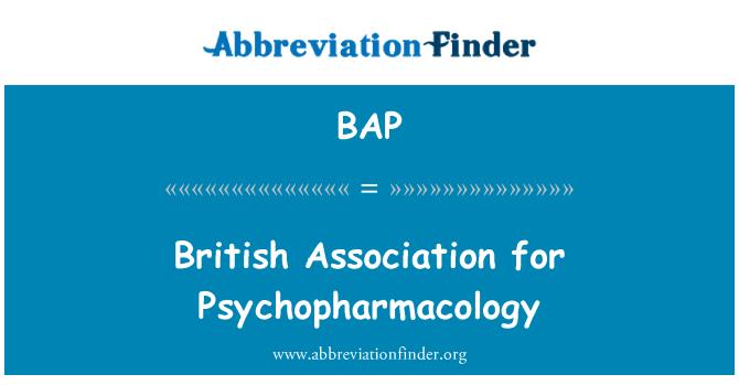 BAP: British Association for Psychopharmacology