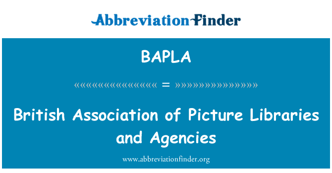 BAPLA: British Association of Picture Libraries and Agencies