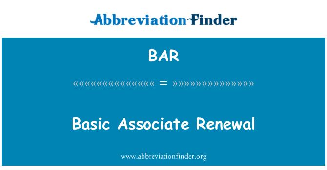 BAR: Basic Associate Renewal