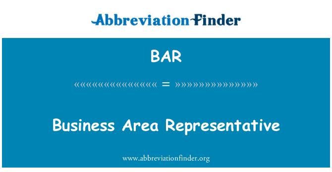 BAR: Business Area Representative