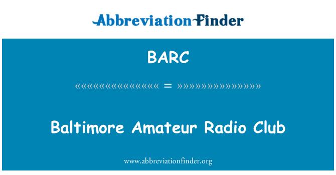 BARC: Baltimore Amateur Radio Club