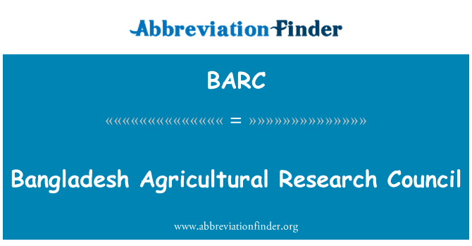 BARC: Bangladesh Agricultural Research Council