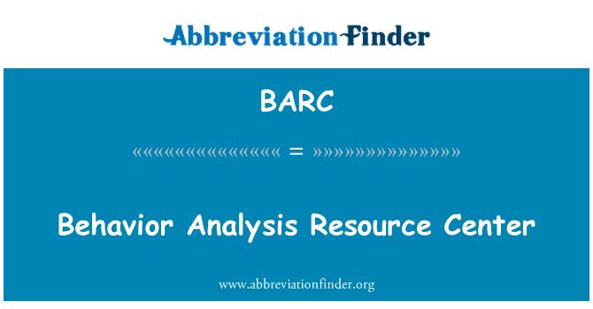 BARC: Behavior Analysis Resource Center