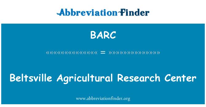 BARC: Beltsville Agricultural Research Center