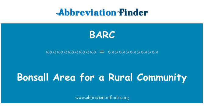 BARC: Bonsall Area for a Rural Community