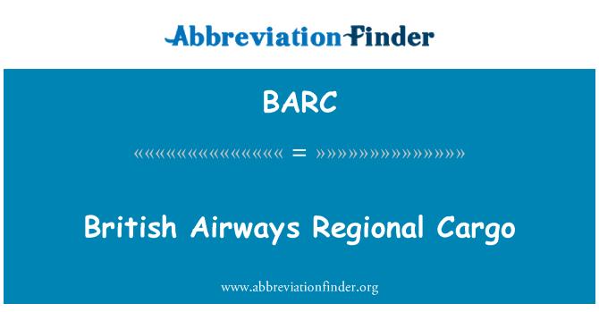 BARC: British Airways Regional Cargo