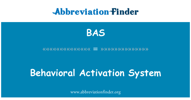 BAS: Behavioral Activation System