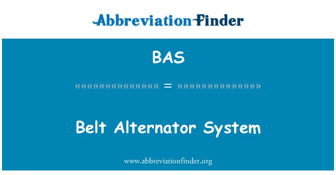 BAS: Belt Alternator System