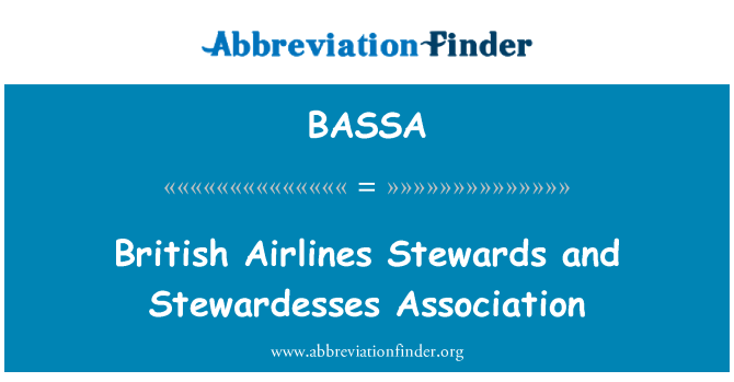 BASSA: British Airlines Stewards and Stewardesses Association