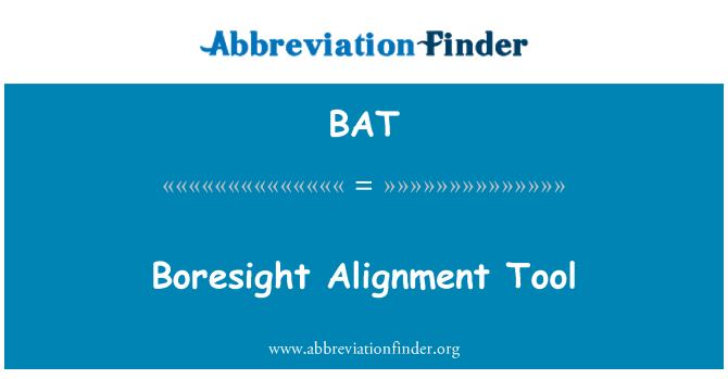 BAT: Boresight Alignment Tool
