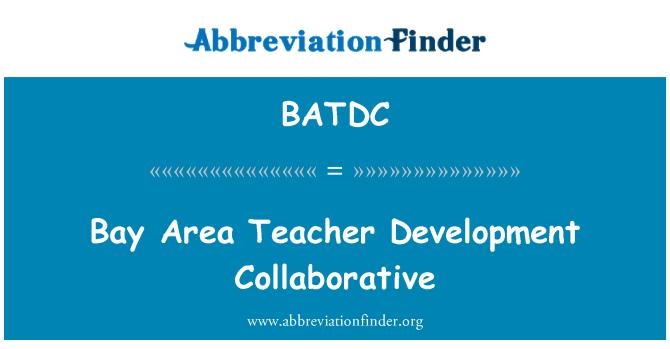BATDC: Bay Area Teacher Development Collaborative