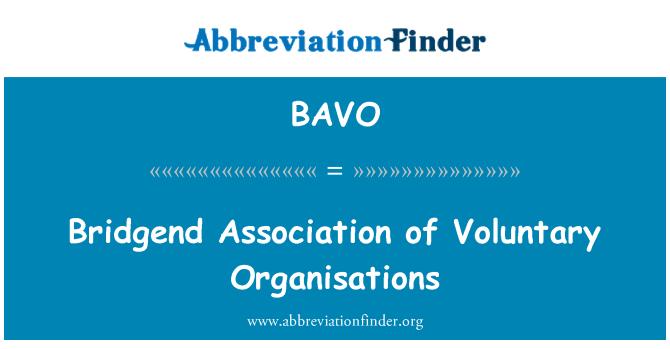 BAVO: Bridgend Derneği gönüllü kuruluşlar