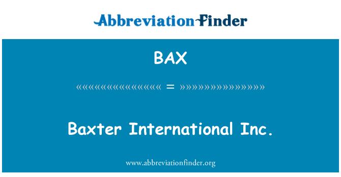 BAX: Baxter International Inc.