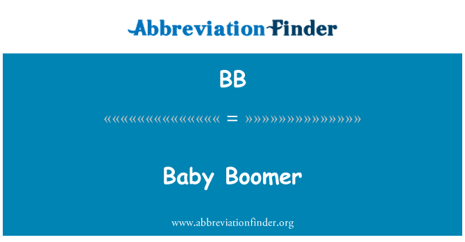 BB: Baby Boomer