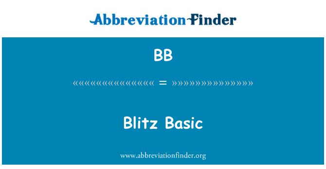 BB: Blitz Basic