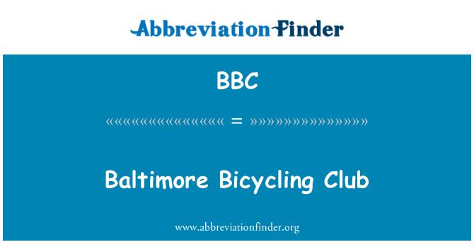 BBC: Baltimore Bicycling Club
