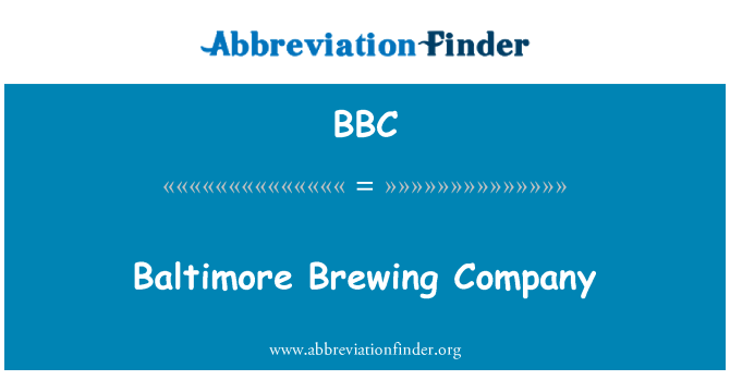 BBC: Baltimore Brewing Company
