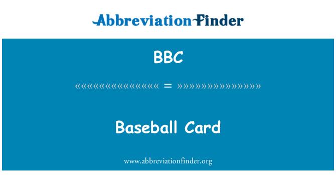 BBC: Baseball Card