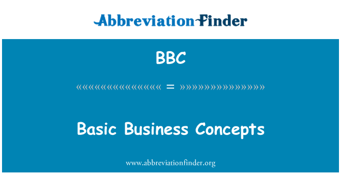 BBC: Basic Business Concepts