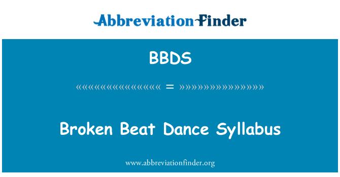 BBDS: Broken Beat Dance Syllabus