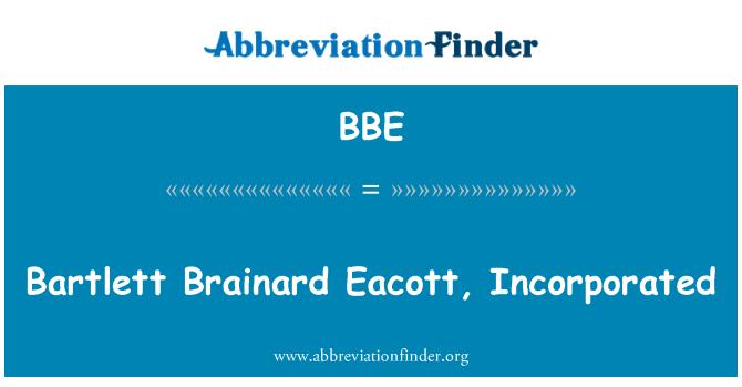 BBE: Bartlett Brainard Eacott, Incorporated