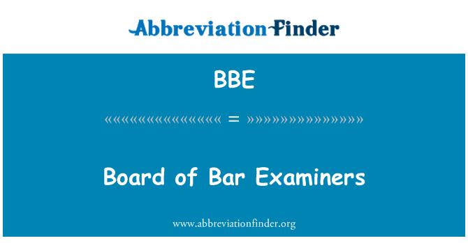 BBE: Board of Bar Examiners