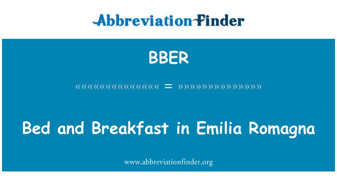 BBER: بستر اور ناشتے میں ایمیلیا رومانیا