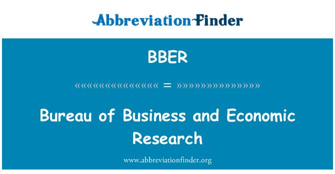 BBER: تجارتی و اقتصادی تحقیق کے بیورو