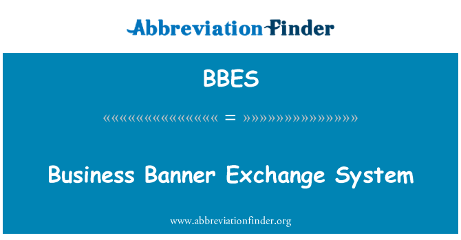 BBES: Business Banner Exchange System