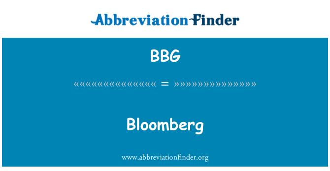 BBG: Bloomberg