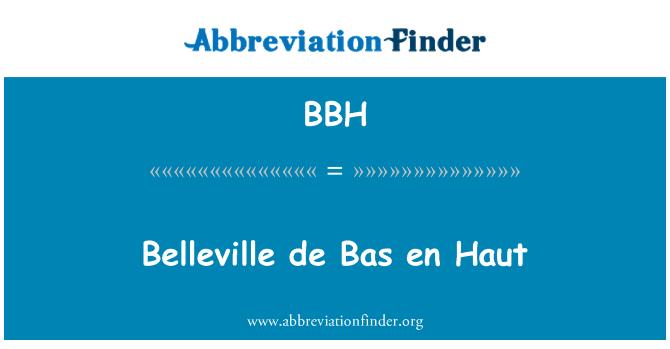 BBH: Belleville de Bas en Haut